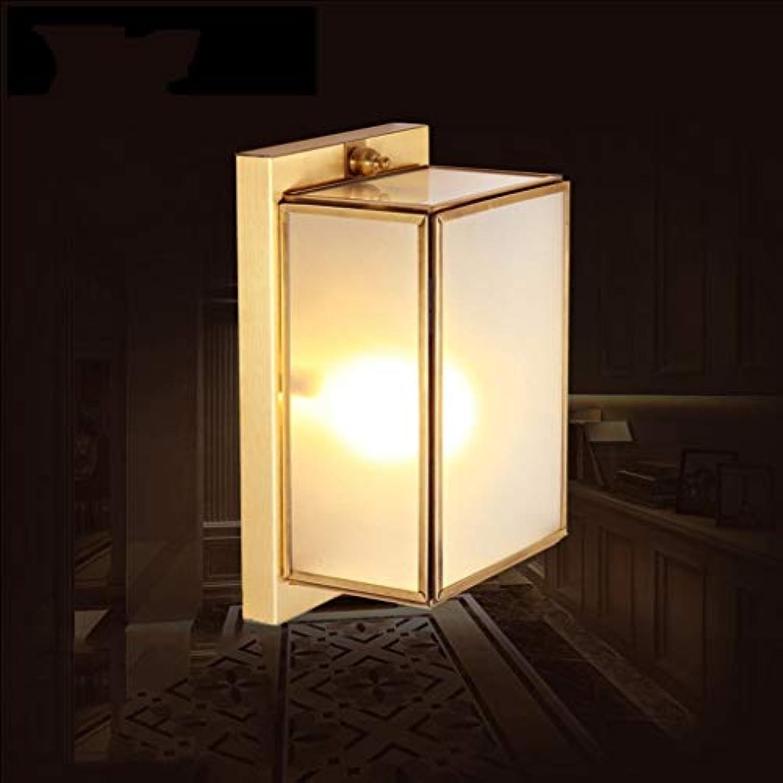 WEI LED Europischen Voller Kupfer Wandleuchte Korridor Lampe Ganglichter Eingang Wohnzimmer Schlafzimmer Nachttischlampe Auenwandleuchte