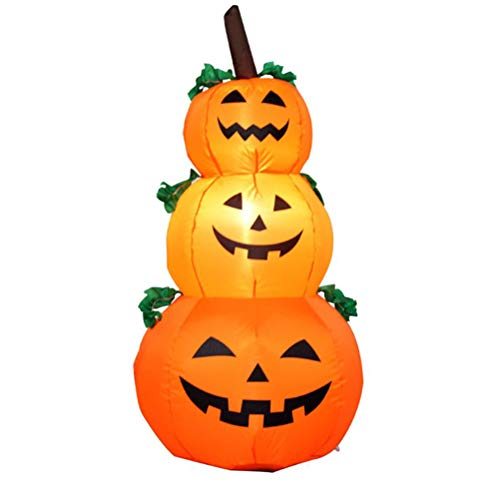 Wawogic Halloween inflatable pumpkin decoration built in LED light, outdoor inflatable toys for garden, party, yard