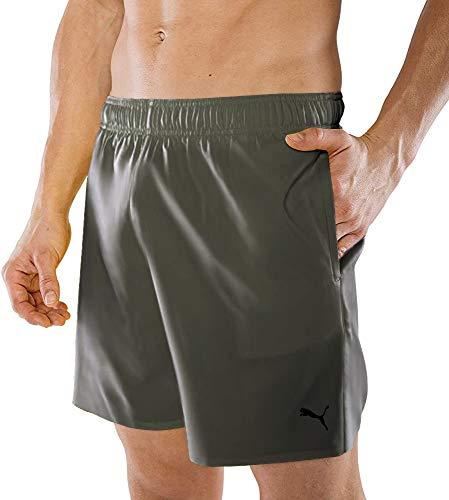 PUMA Herren Badehose Badeshorts Summer Deluxe Swim Shorts - Thyme - Gr. L