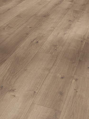 Parador Modular One - Bodenbelag Eiche Pure Perlgrau - Elastischer Bodenbelag in Holz-Optik, schallgedämmt, mit Klick-Verlegung - ohne Weichmacher- 1285 x 194 x 8 mm