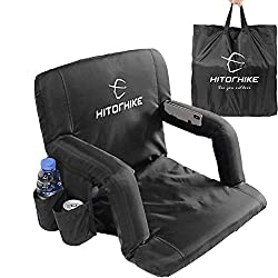 powerful HITORHIKE stadium seats for stands or benches Portable, adjustable, foldable black stadium seats …