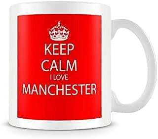 Keep Calm I Love Manchester Red Printed Mug