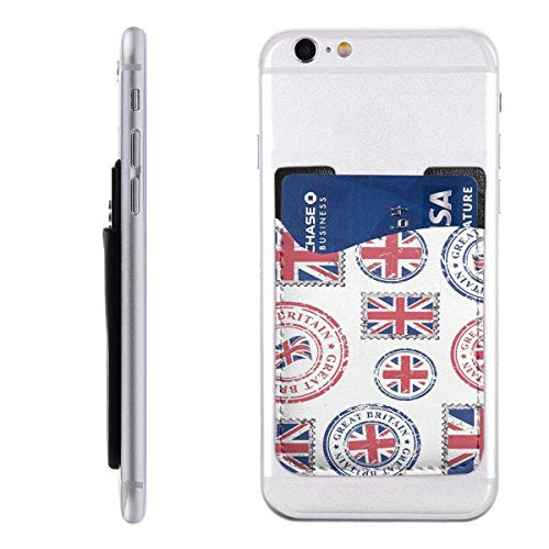 Interieur Shop portemonnee voor mobiele kaarten met creditcardvak Grote Bretagne Grunge postzegels en poststempel met Britse vlag Mosue Natural