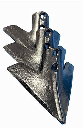 Reja arado 13A 8 mm. con nervio acero al boro antidesgaste golondrina para arar con cultivador o chisel. Pack de 3 uds.