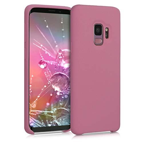 kwmobile Cover Compatibile con Samsung Galaxy S9 - Cover Custodia in Silicone TPU - Back Case Protezione Cellulare Cipria Scuro