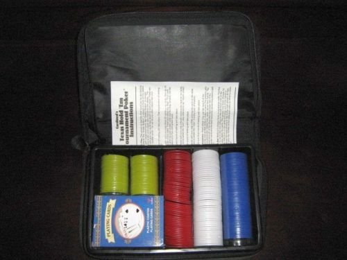 Cardinal's Texas Hold 'Em Tournament Poker Set in Fabric Carrying Case New