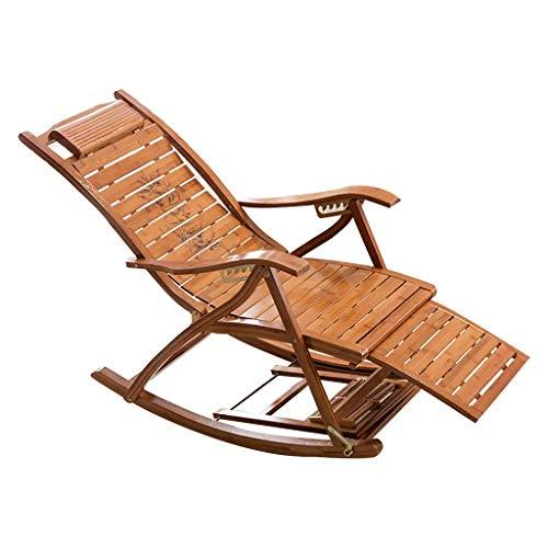 Household Necessities/salon tuinstoel, ligstoel voor binnen en buiten, geschikt voor camping, lounge loading, gewicht 180 kg 95*47*74CM Houtkleur.