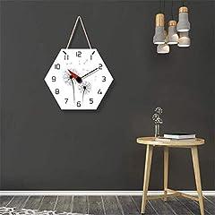 TIANYOU Wall Clock Dandelion Bracket Clock Lanyard Clock Acrylic Silent Wall Clock Living Room Bedrooms Kitchen Bracket Clock 14 Inches No Ticking #4