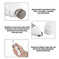 ペットネイルグラインディングツール、ポータブル交換可能ウォッシャブルリムーバブルUsb充電ペットネイルポリッシャー、犬猫家庭用のグラインドポリッシュペットネイル(Nail polisher)