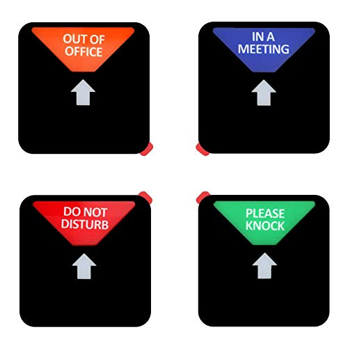 Privacy Sign,Do not Disturb,Out of Office, Please Knock,in a Meeting Sign, Conference Sign for Home and Offices, Square Shaped, 4.9 Inch, Black