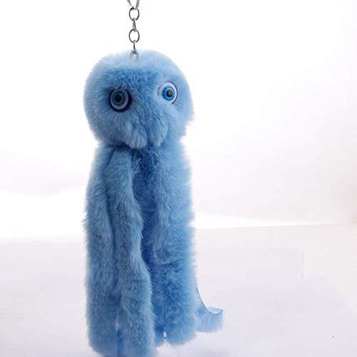siyat Netter Cthulhu Octopus Pompom Keychain Stofftier Schlüsselanhänger gefälschtes Kaninchen-Pelz-Ball-Frauen-Auto-Tasche Pompon New Schlüsselanhänger Pom Pom 2, Farbe: 1 Jikasifa-UK (Color : 4)