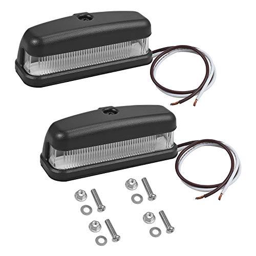 PROZOR 2 x LED Kennzeichenbeleuchtung 6LEDs Nummernschildbeleuchtung License Plate Lights 12/24V IP67 Wasserdicht Universal Kennzeichen Licht für Auto LKW Anhänger