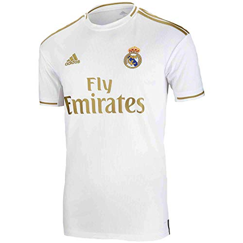 adidas Men's Soccer Real Madrid Home Jersey (XX-Large) White/Gold