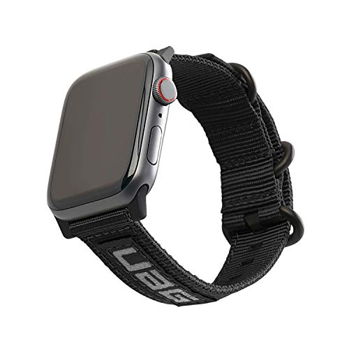 URBAN ARMOR GEAR UAG Compatible with Apple Watch 44mm 42mm, iWatch Series 6/5/4/3/2/1 & Watch SE Strap NATO Eco High Strength Nylon Sporty Replacement Watch Band, Black