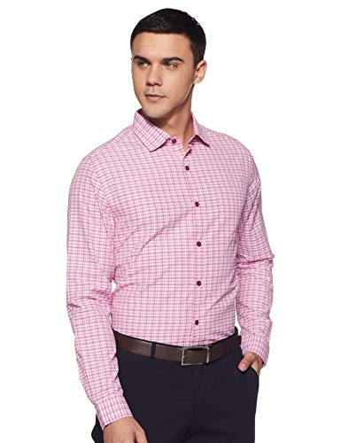 Excalibur Men's Formal Shirt (8907542558704_400016479737_42_Pink)