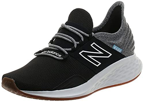 New Balance Men's Fresh Foam Roav V1 Sneaker, Black/Light Aluminum, 12 M US