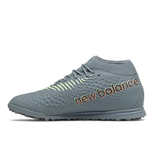 New Balance Men's Tekela Magique TF V3 Soccer Shoe, Thunder/Bleached Lime Glo, 9