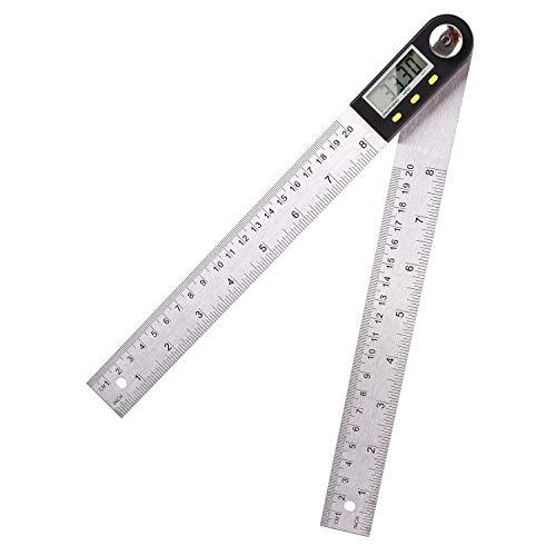 FIXKIT Digitaler Winkelmesser Schmiege mit LCD Anzeige Feststellfunktion Automatische Abschaltfunktion Länge: 200mm(Klein)