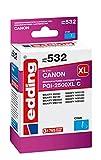 edding Cartucho de Tinta edd-532 sustituye a Canon PGI-2500XLC, Color Cian, Contenido: 20 ml