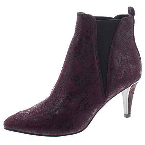 DKNY Frauen Alani Geschlossener Zeh Wildleder Fashion Stiefel Lila Groesse 7 US /38 EU