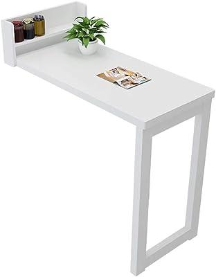 Amazon.com: Escritorio para espacios pequeños, mesa de pared ...