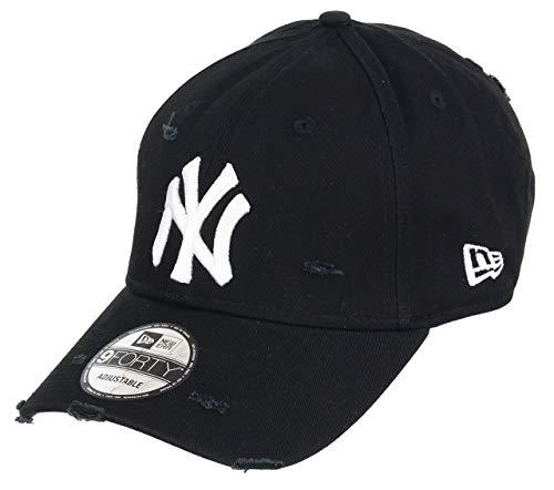 Unbekannt New Era 9forty Strapback Cap MLB New York Yankees Distressed Black, OSFA