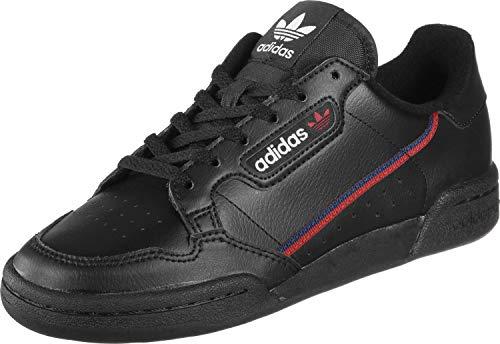 adidas Unisex-Kinder Continental 80 J Sneaker, Schwarz (Core Black/Scarlet/Collegiate Navy 0), 38 EU