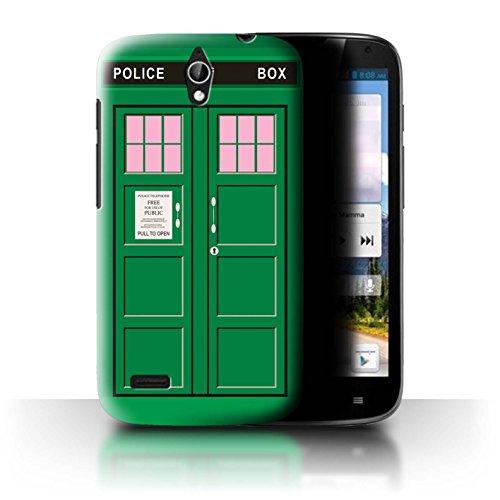 Hülle Für Huawei Ascend G610 Tardis Handyzelle Kunst Grün Design Transparent Ultra Dünn Klar Hart Schutz Handyhülle Hülle