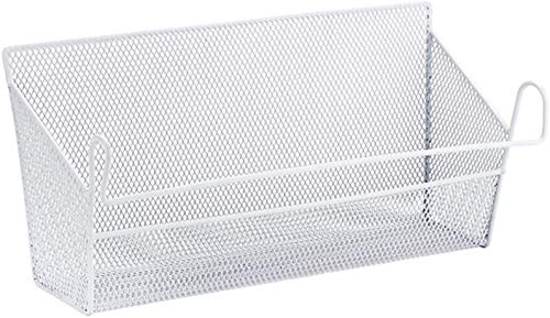 LLKK Canasta de Almacenamiento de Marco de Cama Blanca Individual,Canasta de Almacenamiento Colgante de Hierro con Cama de Malla para Sala de Estar de Dormitorio