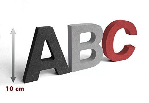 wall-art MDF-Holzbuchstaben, 10 cm - Farbe: grau - Buchstabe &