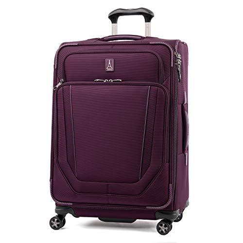 %49 OFF! Travelpro Crew Versapack-Softside Expandable Spinner Wheel Luggage, perfect Plum, Checked-M...