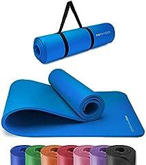 KG Physio Yoga Mat - Esterilla Yoga Antideslizante Extra Gruesa 183 cm x 60 cm x 1cm con Correa de Hombro - Fabricada con NBR para garantizar que sea Esterilla Antideslizante.
