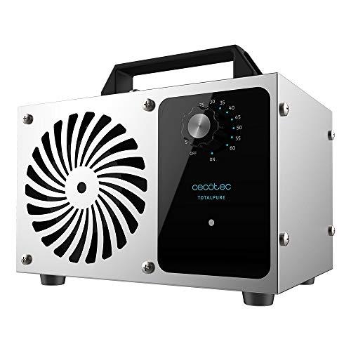 Cecotec Generador de ozono TotalPure 4000 Ozone.Potencia 120 W, Limpia 28 g/hora, Temporizador ,Apagado automático, Cobertura hasta 100 m2, Uso Sencillo, Fácil transporte