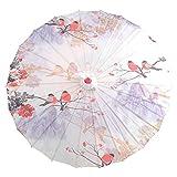 Cfanbp Rendimiento de Baile Papel de Aceite Poliéster Paño Umbrella 56Cmwedding Sun Umbrella Dancing Paraguas