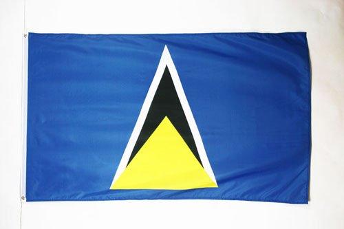 AZ FLAG Flagge ST. Lucia 150x90cm - Santa Lucia Fahne 90 x 150 cm - flaggen Top Qualität