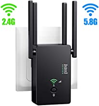 URANT WiFi Range Extender | Up to 1200Mbps |WiFi Repeater, Internet WiFi Booster, Access Point, 2.4 & 5.8GHz Dual Band WiFi Extender| Extend WiFi Signal to Smart Home & Alexa Devices.