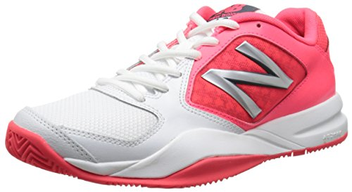 New Balance Women's WC696 Lightweight Tennis Shoe-W, White/Silver, 9.5...
