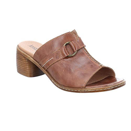 Josef Seibel Damen ClogsPantoletten Juna 05, Frauen Clogs, Ladies feminin elegant Women's Women Woman Freizeit leger Slipper,Camel,39 EU / 5.5 UK