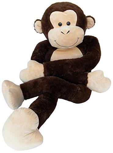 Wagner 9069 - Riesen XXL AFFE 185 cm groß - Plüschbär Kuschelbär Teddy Bär 1,85 m Plüschaffe Schimpanse Teddybär