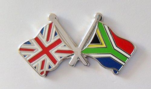 1000 drapeaux Afrique du Sud et drapeau du Royaume-Uni