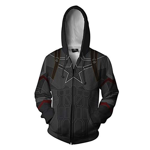 Avengers Tony Stark Hoodies Windproof Pullover Sweatshirts Casual Jacket Child Adult 3D Print Coat With Kangaroo Pocket For Christmas Birthday Gift,1X