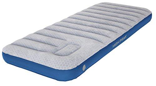 High Peak Unisex Cross Beam Single extra long Luftbett, mit integrierte Fußpumpe und Anti-Rutsch Funktion, atmungsaktiv, robust, Oberseite weich, für Indoor und Outdoor, hellgrau/blau, XXL