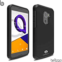 """Jitterbug Smart2 Case, Slim Protective Phone Cover, Dual Layer Protection Hybrid Rugged Case (BELTRON Case for Jitterbug Smart 2 Easy-to-Use 5.5"""" Smartphone for Seniors by GreatCall) (Black)"""