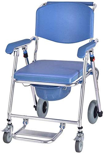 Why Choose Nuokix Shower Chair, Wheelchair Multi-Function Aluminum Alloy Household Folding Bath Chai...