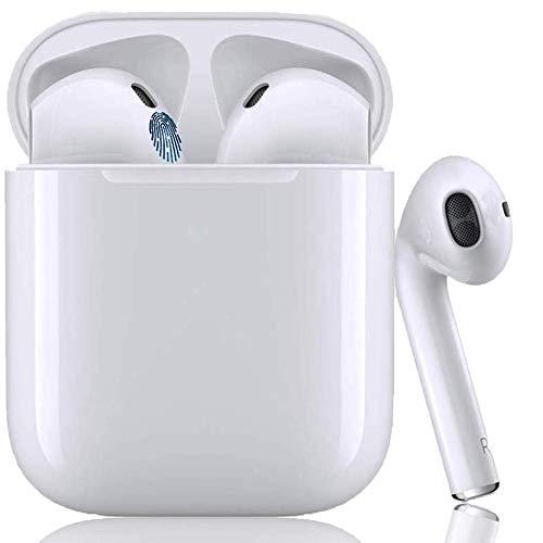 Bluetooth-Kopfhörer,Kabellose Kopfhörerr IPX7 wasserdichte,Noise-Cancelling-Kopfhörer,Geräuschisolierung,mit 24H Ladekästchen und Mikrofon für Android/AirPods/iPhone/Samsung/Apple AirPods Pro