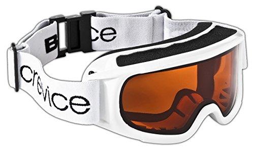 Black Crevice Lunettes de Ski pour Femme Taille Unique Blanc - Blanc/Orange