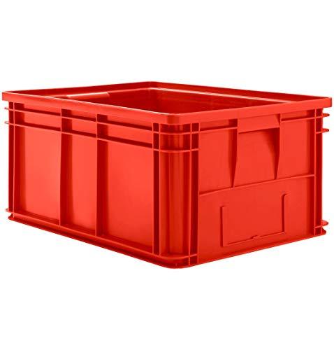 SSI Schäfer Stapeltransportkasten 14/6-1 mit Griffmulde, Inhalt 71 Liter, Tragkraft 40 kg, Rot