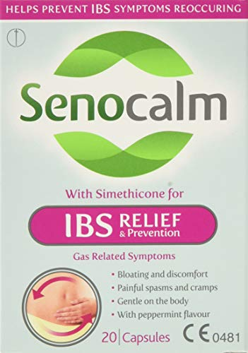 Senocalm IBS Relief Prevention 20 tablets,Pack of 3 (total of 60 tablets)
