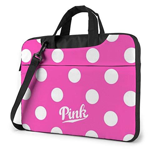 Neue Vs Pink Polka Dot Laptoptasche Stoßfeste Aktentasche Umhängetaschen Tragetasche Laptop Aktentasche