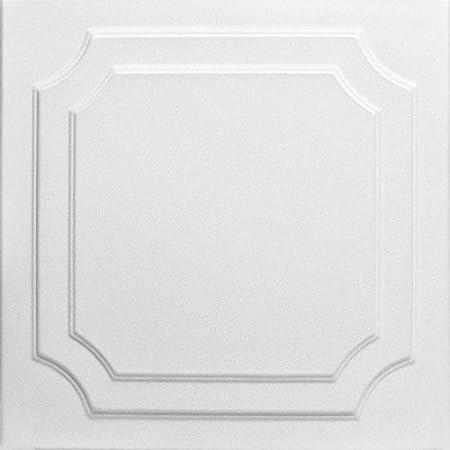 Amazon Com A La Maison Ceilings R24 Line Art Foam Glue Up Ceiling Tile 21 6 Sq Ft Case Pack Of 8 Plain White Home Improvement